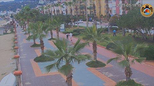 Онлайн веб камера пляж Кейкубат, Алания, Турция