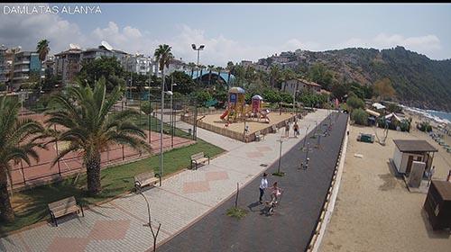Онлайн веб камера пляж Клеопатры, Алания, Турция