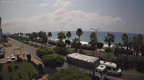 Онлайн веб камера Алании пляж Инжекум (Турция)